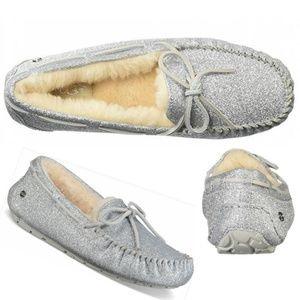 UGG Dakota Sparkle Women Wool Moccasin Loafers 10